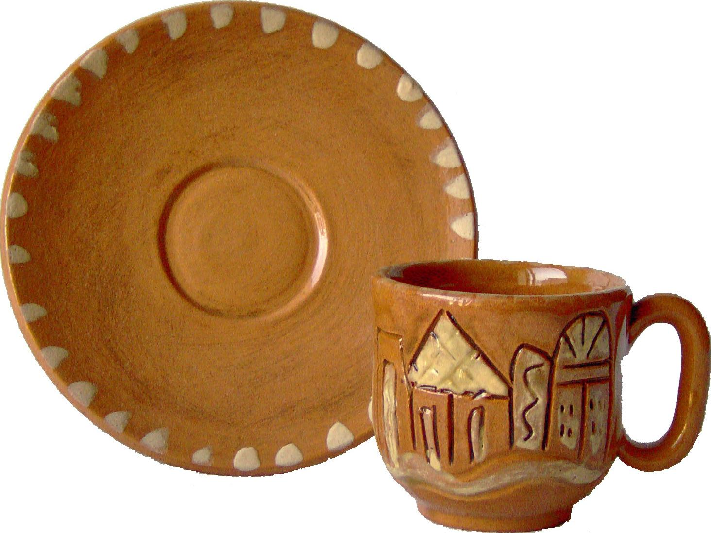 Nabatean of Petra art clay cup pots and pottery crafts
