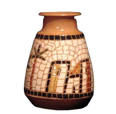 mosaic clay pottery artwork