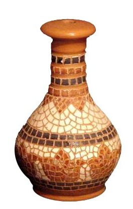 clay mosaic lampstand